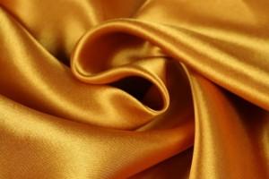 Satin 47 ochre yellow / gold