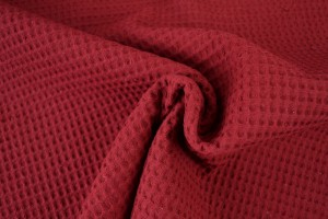 Waffle fabric special p01 red